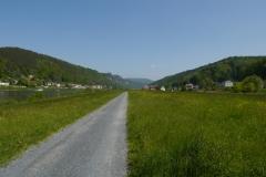 Elberadweg bei Decin