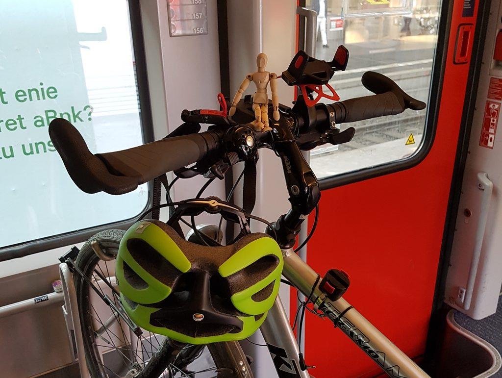 Fahrrad in der Bahn