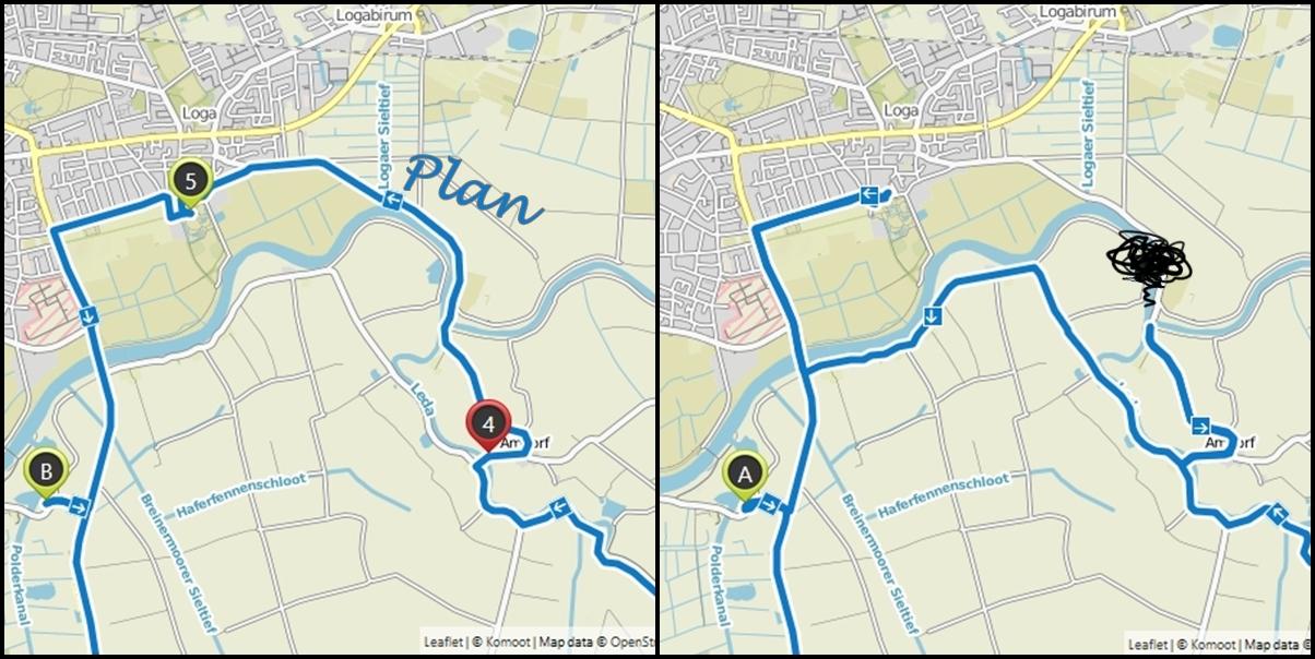Karte Plan und Realität