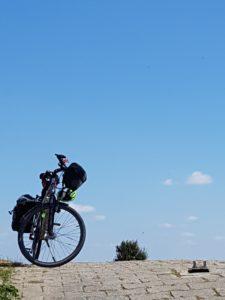 Fahrrad am Horizont