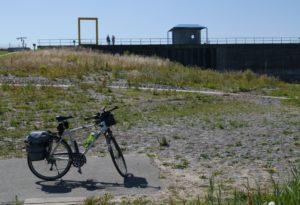 Fahrrad an der holländischen Grenze