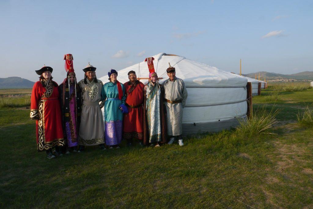 Mongolische Kostümparty